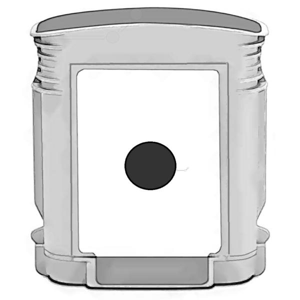 REFC4844 Refill Tinte Black für HP / C4844A / 69ml