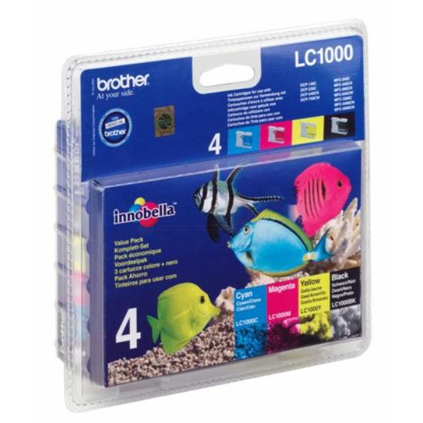 Multipack // LC1000VALBP // original // 4 x Tinte / LC1000VALBP