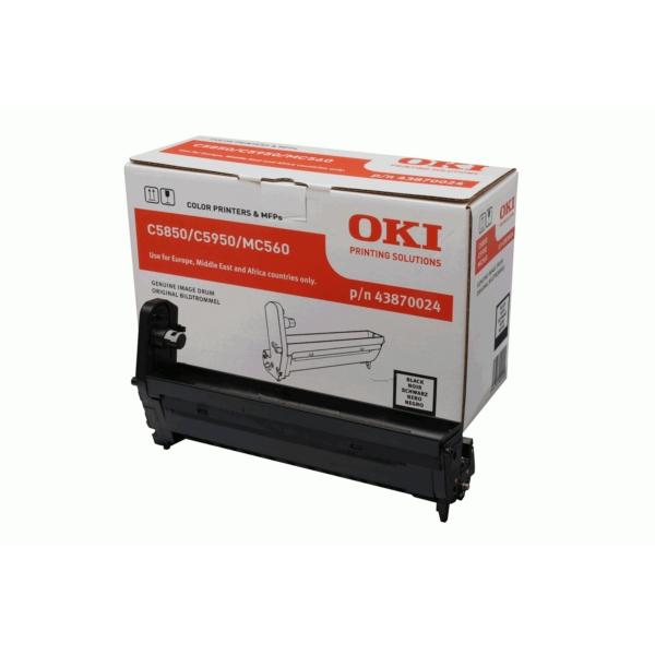 43870024 Original Trommel Black für Oki C5850 / 43870024 / 20.000 Seiten