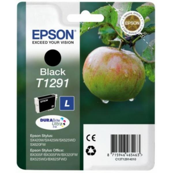 C13T12914012 / T1291 Original Tinte Black für Epso / C13T12914010 / C13T12914012 / 11,2ml