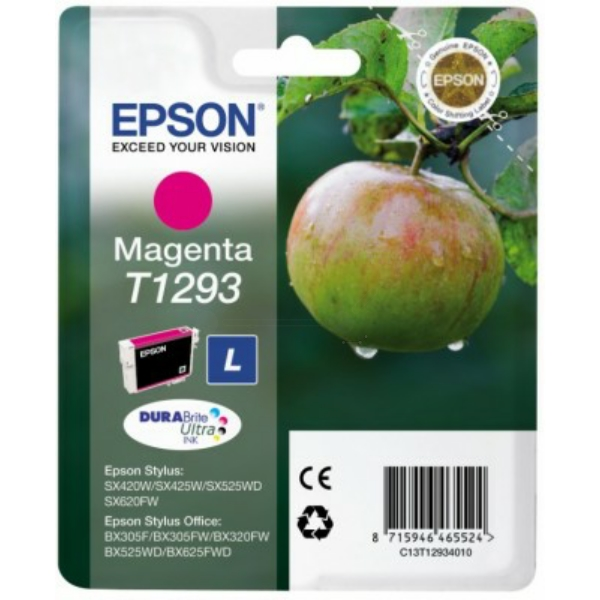 C13T12934012 / T1293 Original Tinte Magenta für Ep / C13T12934010 / C13T12934012 / 7ml