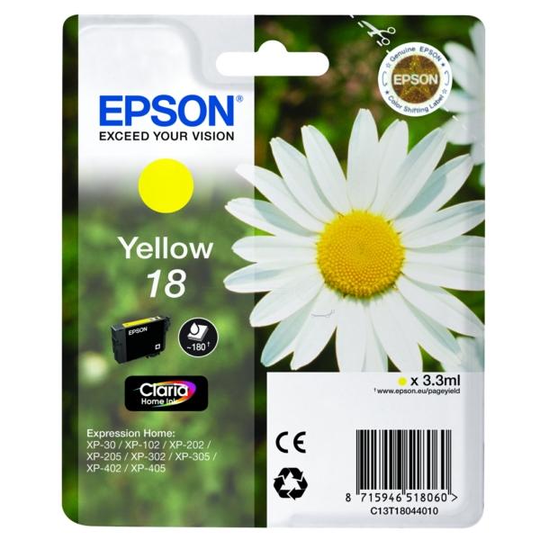 Nr. 18 // C13T18044012 // Yellow // original // Ti / C13T18044010 // C13T18044012 / 3,3 ml