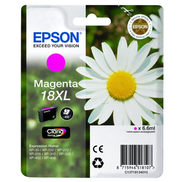 Nr. 18XL // C13T18134012 // Magenta // original // / C13T18134012 / 6,6 ml