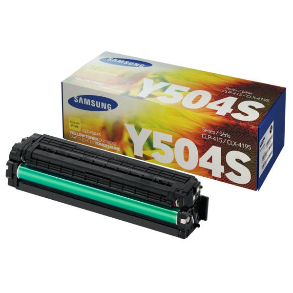 CLP415Y /CLTY504S/ELS Original Toner Yellow   / CLTY504S/SU502A/ELS / 1.800 Seiten