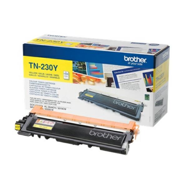 TN230Y Original Toner Yellow für Brother / TN230Y / 1.400 Seiten