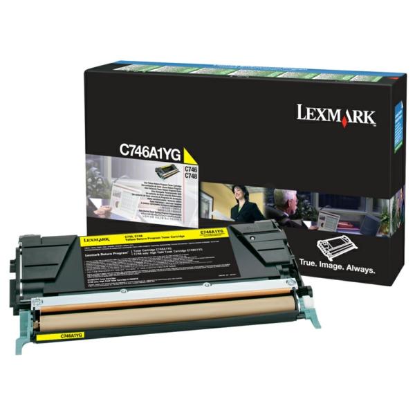 C746A1YG // Yellow // Original // Toner f. Lexmark / C746A1YG / 7.000 Seiten