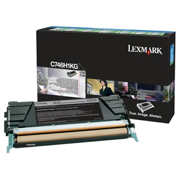 C746H1KG // Black // Original // Toner f. Lexmark / C746H1KG / 12.000 Seiten