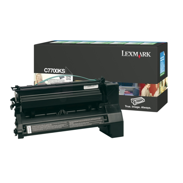 C7700KS // Black // original // Toner f. Lexmark C / C7700KS