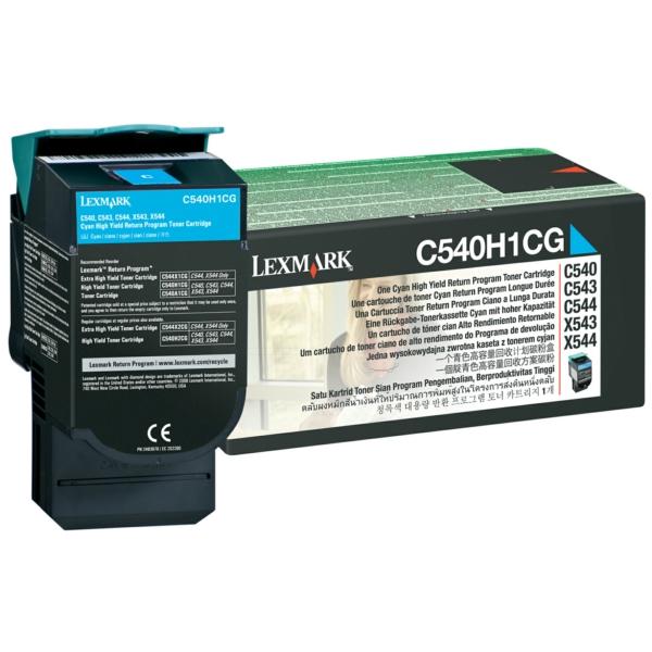 C540H1CG // Cyan // original // Toner f. Lexmark C / C540H1CG / 2.000 Seiten