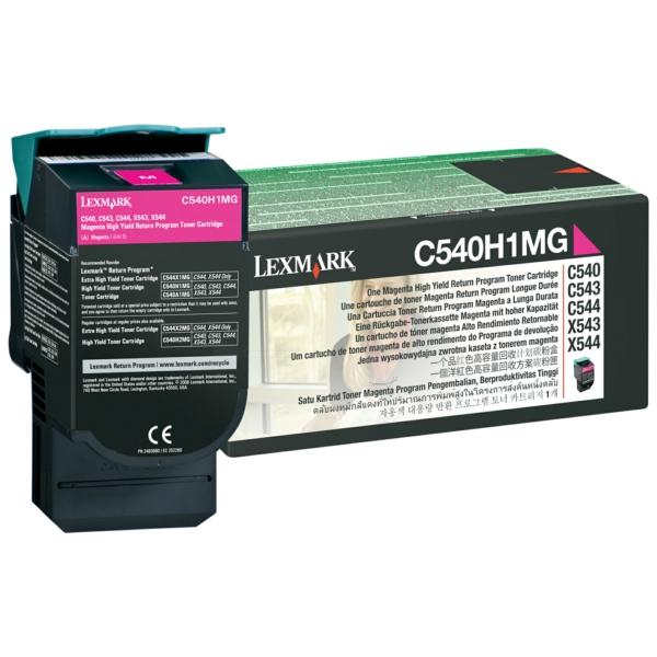C540H1MG Original Toner Magenta für Lexmark C540 / C540H1MG / 2.000 Seiten