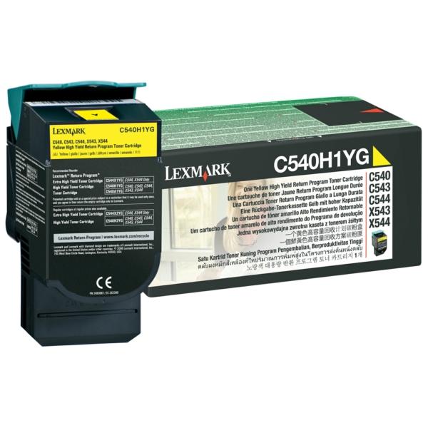C540H1YG // Yellow // original // Toner f. Lexmark / C540H1YG / 2.000 Seiten