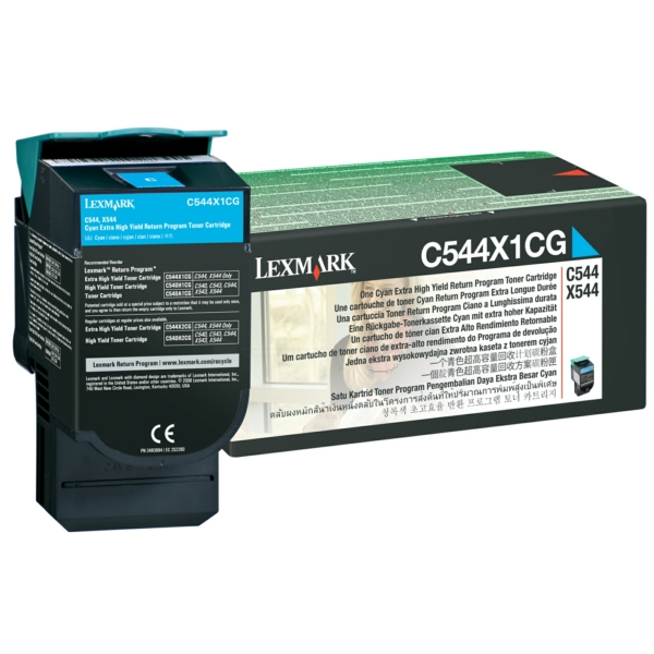 C544X1CG // Cyan // original // Toner f. Lexmark C / C544X1CG / 4.000 Seiten