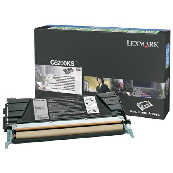 C5200KS // Black // original // Toner f. Lexmark C / C5200KS / 1.500 Seiten
