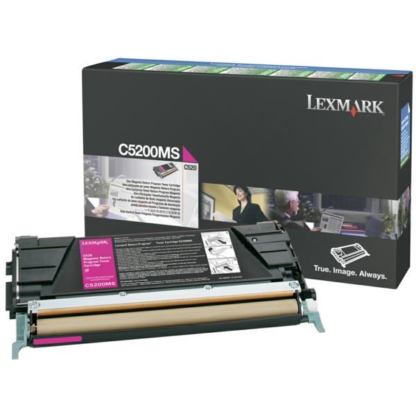 C5200MS // Magenta // original // Toner f. Lexmark / C5200MS / 1.500 Seiten