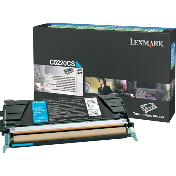 C5220CS // Cyan // original // Toner f. Lexmark C5 / C5220CS / 3.000 Seiten