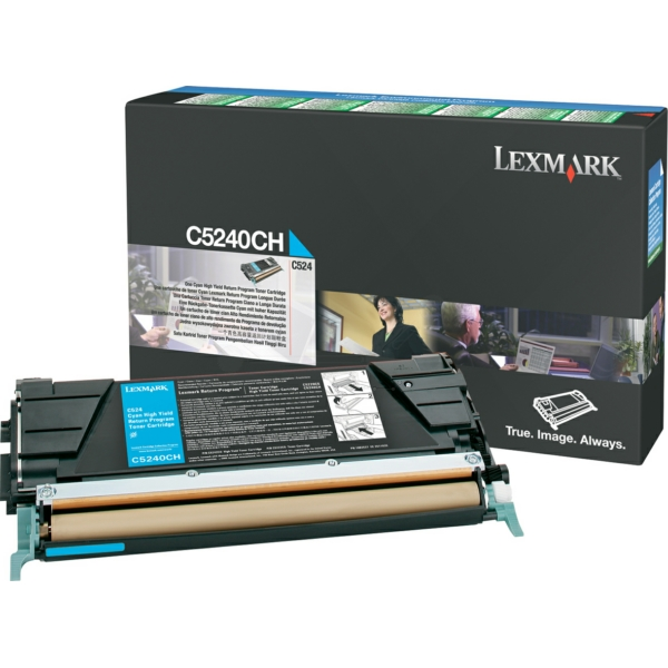 C5240CH // Cyan // original // Toner f. Lexmark C5 / C5240CH / 5.000 Seiten