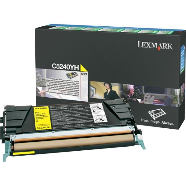 C5240YH // Yellow // original // Toner f. Lexmark / C5240YH / 5.000 Seiten