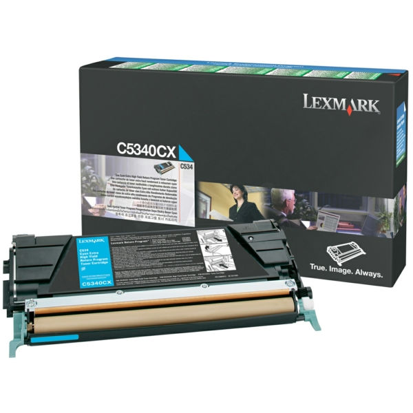 Lexmark Cartridge (C5340CX) Return Cyan 7k VE 1 St / C5340CX