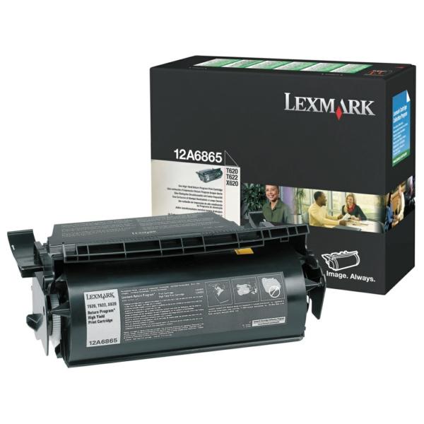 12A6865 // Black // original // Toner f. Lexmark O / 12A6865 / 30.000 Seiten
