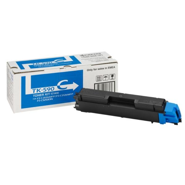 TK590C/1T02KVCNL0 Original Toner Cyan für Kyocera / 1T02KVCNL0 /TK590C/ 5.000 Seiten