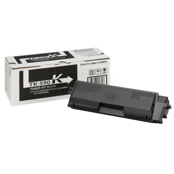 TK590K/1T02KV0NL0 Original Toner Black für Kyocera / 1T02KV0NL0 /TK590K/ 7.000 Seiten