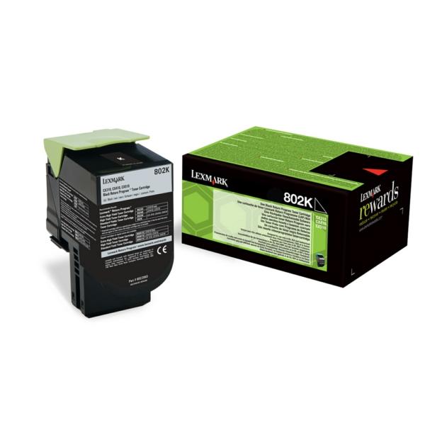 80C20K0 // Black // original // Toner f. Lexmark C / 80C20K0 / 1.000 Seiten