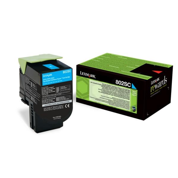 80C2SC0 // Cyan // original // Toner f. Lexmark CX / 80C2SC0 / 2.000 Seiten