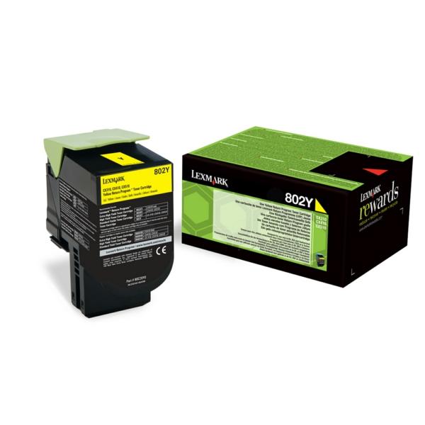 80C20Y0 // Yellow // original // Toner f. Lexmark / 80C20Y0 / 1.000 Seiten
