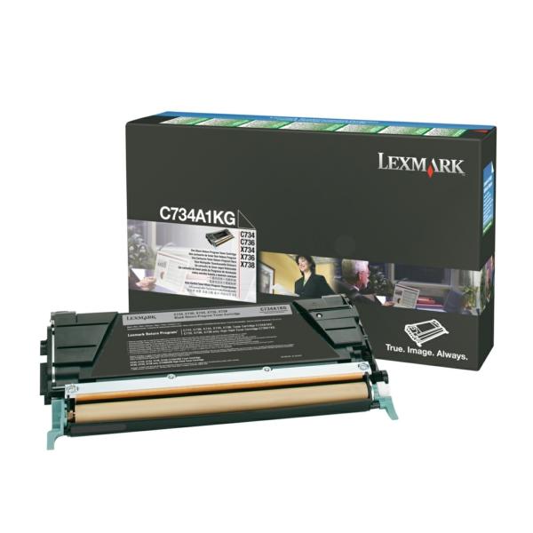 C734A1KG // Black // Original // Toner f. Lexmark / C734A1KG / 8.000 Seiten