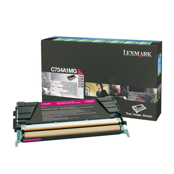 C734A1MG // Magenta // original // Toner f. Lexmar / C734A1MG / 6.000 Seiten