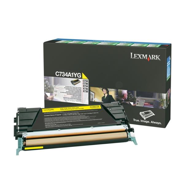 C734A1YG // Yellow // original // Toner f. Lexmark / C734A1YG / 6.000 Seiten