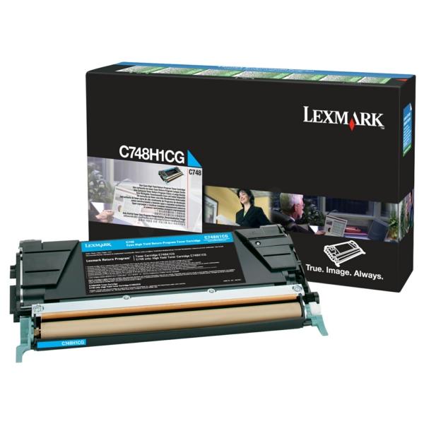 C748H1CG // Cyan // Original // Toner f. Lexmark / C748H1CG / 10.000 Seiten