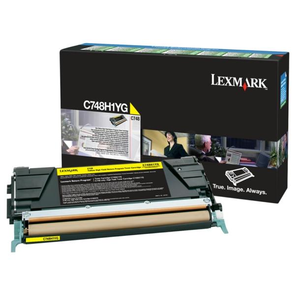 C748H1YG // Yellow // Original // Toner f. Lexmark / C748H1YG / 10.000 Seiten