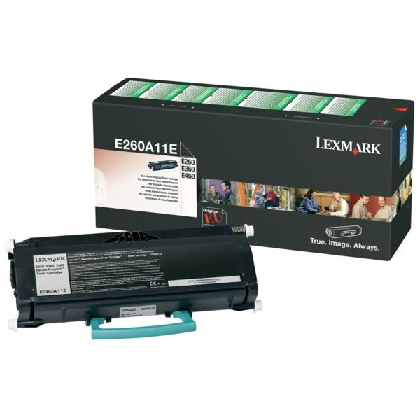 E260A11E Lexmark Lasertoner f. Optra E 260/3604 / E260A11E / 3.500 Seiten