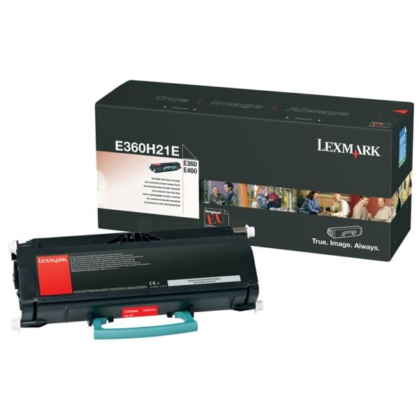E360H21E // Black // original // Toner f. Lexmark / E360H21E / 9.000 Seiten