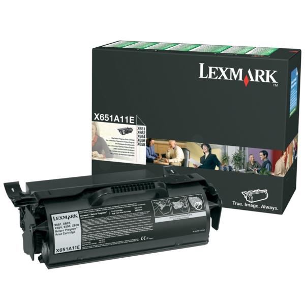X651A11E // Black // original // Toner f. Lexmark / X651A11E / 7.000 Seiten
