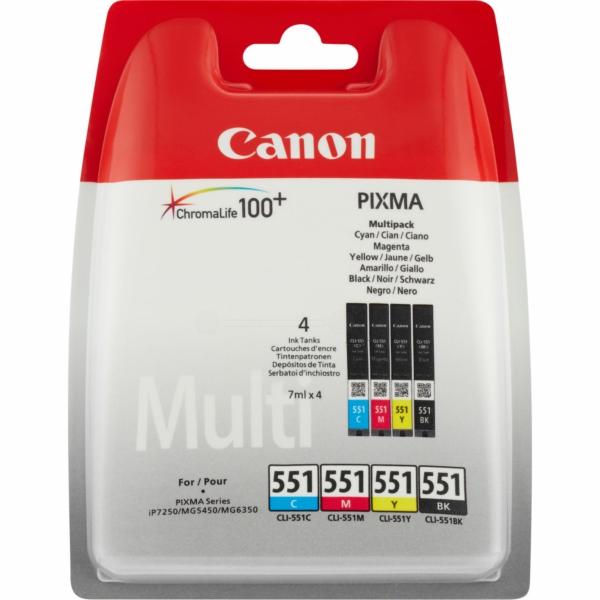 6509B009 / Multi CLI551Z BKCMY Original Tinte für / 6509B009 / 7ml