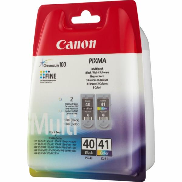 0615B043 / Multi PG40/CL41 Original Tinte für Ca / 0615B043 / BK16ml / Color12ml